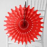 "Cherry Red 18"" Honeycomb Tissue"
