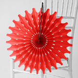 "Cherry Red 18"" Honeycomb Tissue"