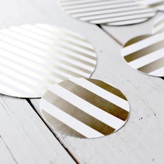 Stripe Gold Foil-pressed Table Confetti