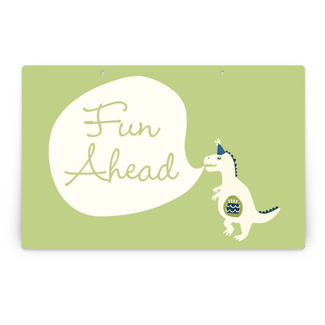Cakeasaurus Dinosaur Personalizable Party Greeting Signs 2