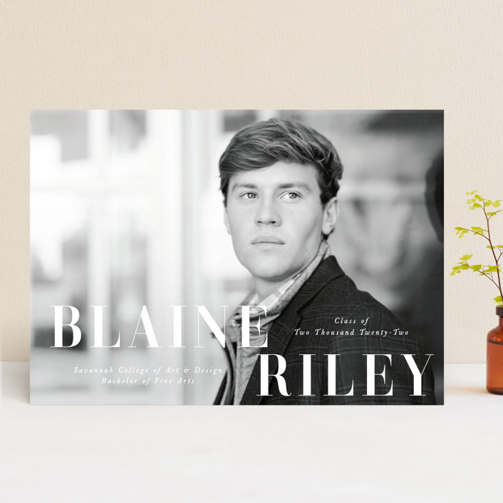 """""""Bold Name"""" - Graduation Announcements in Cloud by Brandy Folse."""