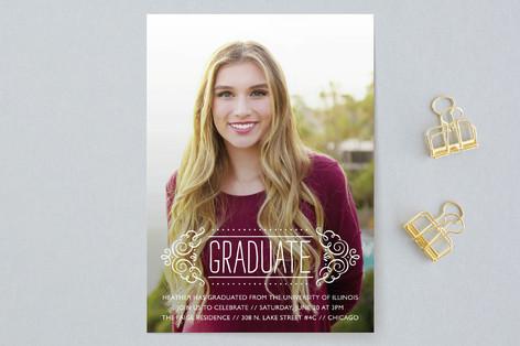 Fancy Grad Graduation Announcements