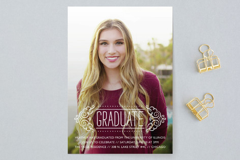 fancy grad graduation announcements by beth schnei minted