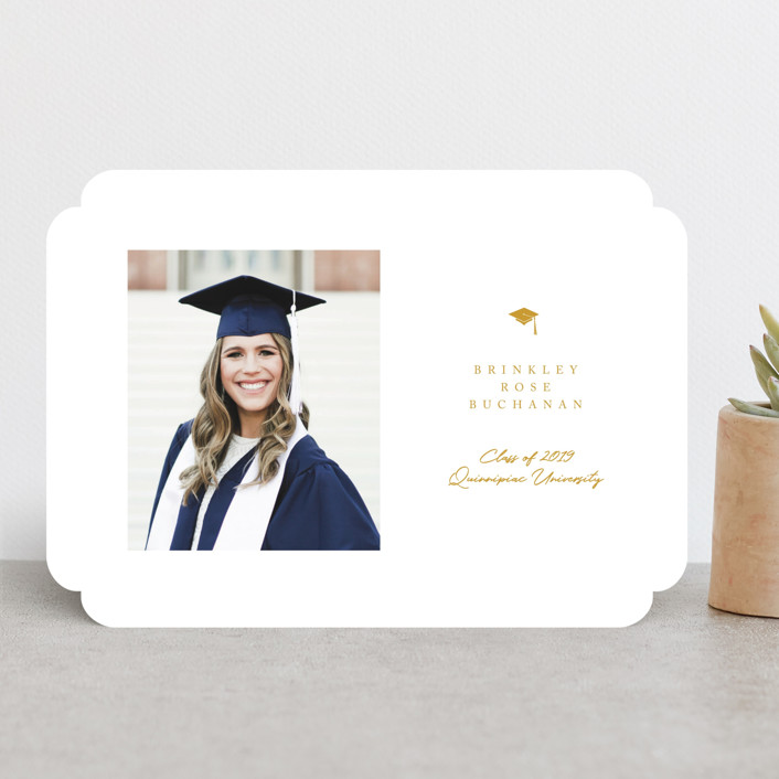 """""""Simple Cap"""" - Graduation Announcements in Royal by Paula Pecevich."""