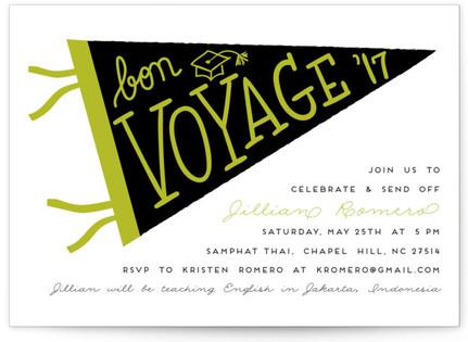 Bon Voyage Grad Graduation Announcements