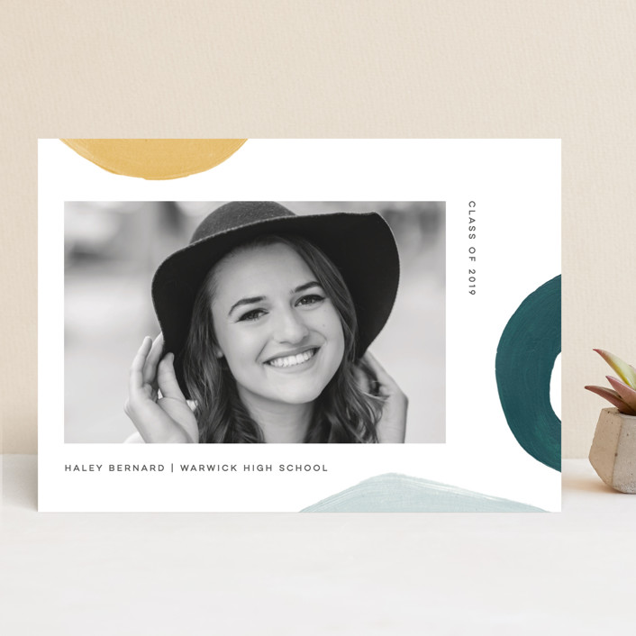 """""""Modern Abstracts"""" - Modern Graduation Announcements in Day Break by Jessica Maslyn."""
