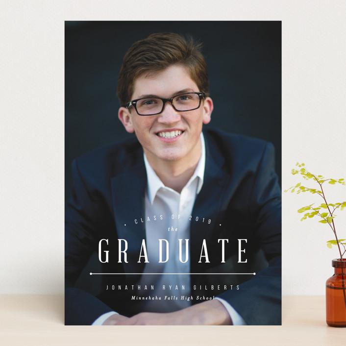 """Elite Grad"" - Graduation Announcements in Silk by Michelle Taylor."
