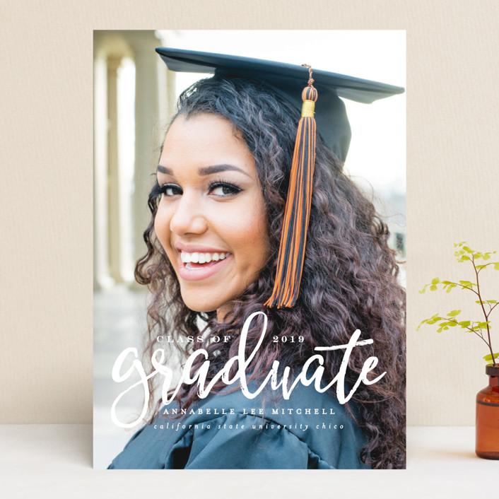 """Boho"" - Graduation Announcements in Seashell by Ashley Rosenbaum."