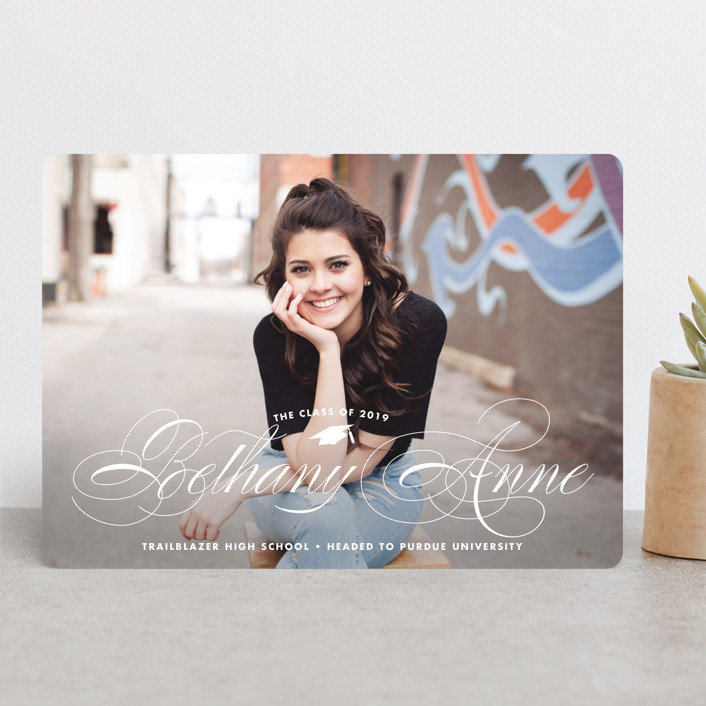 """""""Just Fab"""" - Graduation Announcements in Paper by Brooke Chandler."""