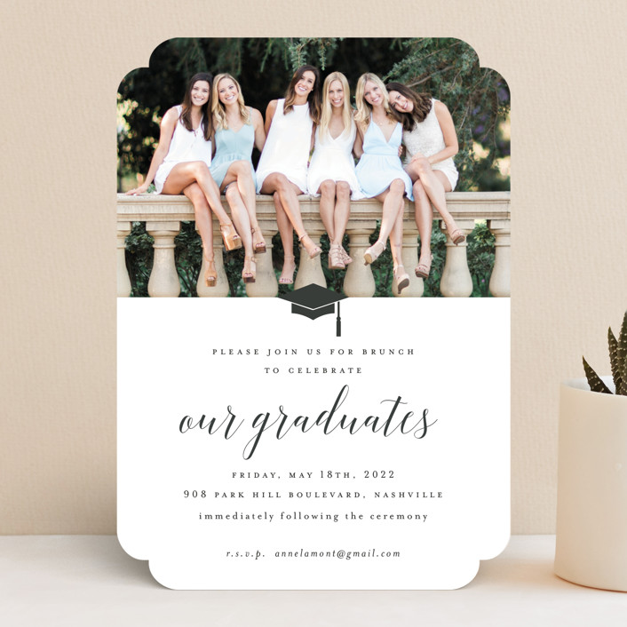 """Our Graduates"" - Graduation Announcements in Cloud by Sara Hicks Malone."