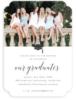 This is a white graduation announcement invitation by Sara Hicks Malone called Our Graduates with standard printing on smooth signature in standard.