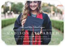 This is a white graduation announcement invitation by Jennifer Postorino called Elegance with standard printing on smooth signature in standard.
