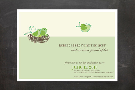 Leaving The Nest Graduation Announcements
