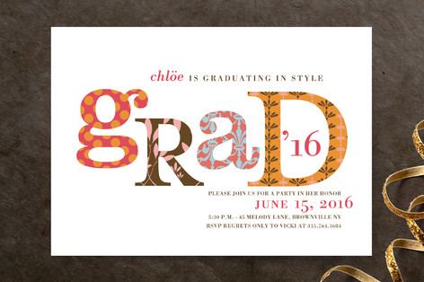 Graduating In Style Graduation Announcements