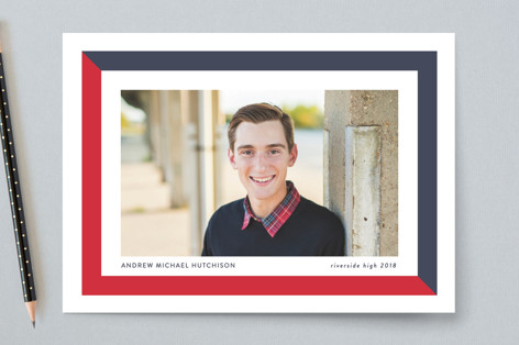 (School) Colorblock Graduation Announcements