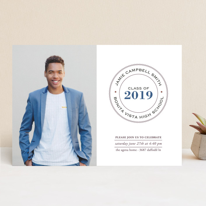 """""""Graduate Ring"""" - Graduation Announcements in Denim by Luckybug Designs."""