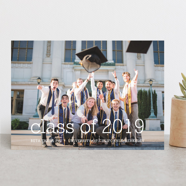 """""""Happy Everything"""" - Graduation Announcements in White by annie clark."""