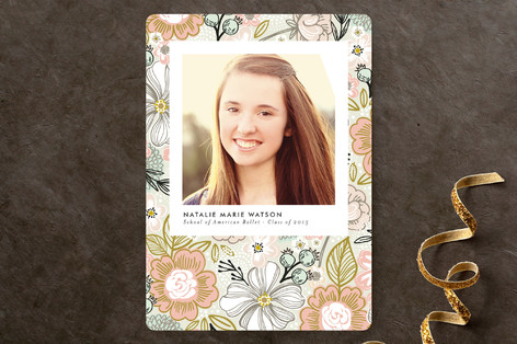 Patterned Snapshot Graduation Announcements