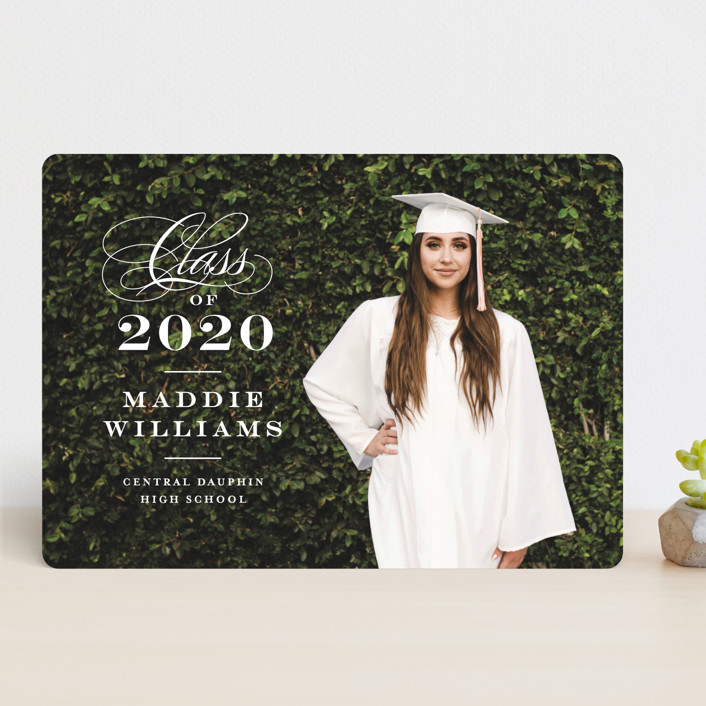 """""""Stacked class"""" - Graduation Announcements in Snow by Jennifer Wick."""