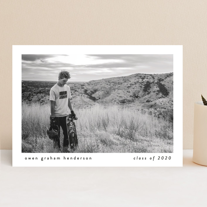 """""""Basic"""" - Graduation Announcements in Onyx by Lauren Chism."""