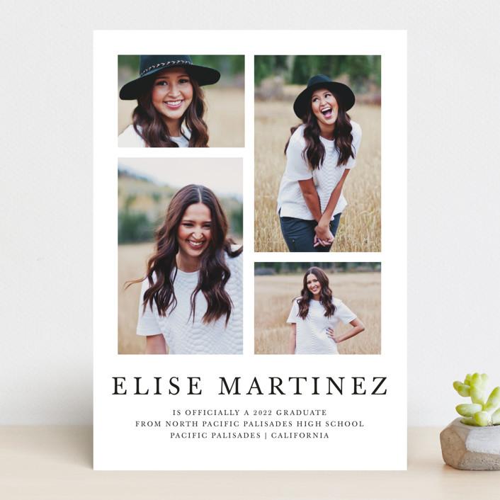 """Photo Collage"" - Graduation Announcements in Midnight by Lea Delaveris."