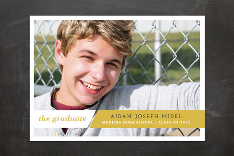 Angled Achievement Graduation Announcements