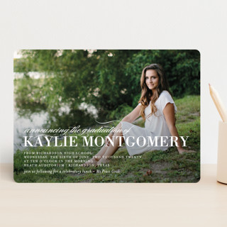 Formal Commencement Graduation Announcements