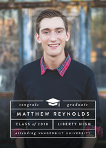 Chic Type Grid Graduation Announcements