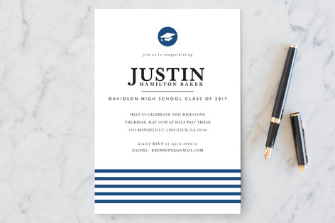 Classic Stripes Graduation Announcements