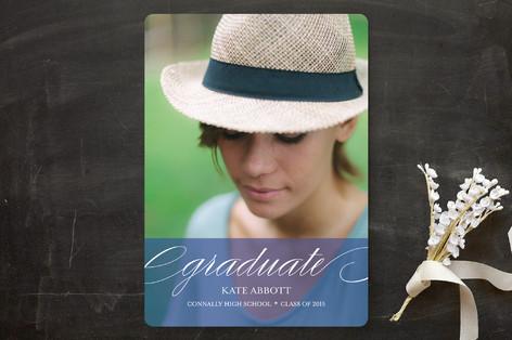 Elegant Grad Graduation Announcements