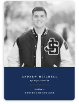 This is a blue graduation announcement invitation by Olivia Raufman called Subtle Colors with standard printing on smooth signature in standard.