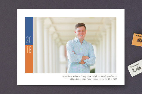 School Color Graduation Announcements