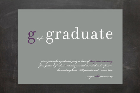 Float + is for : Float Paperie Graduation Announcements