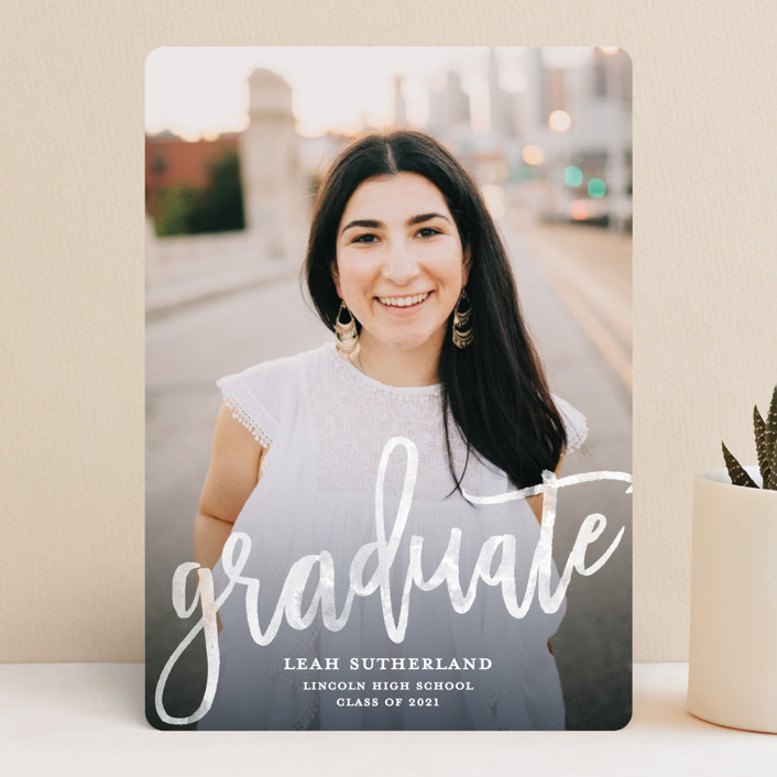 """""""Modern Ombre"""" - Graduation Announcements in Slate by Paper Dahlia."""