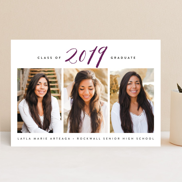 """Gracefully"" - Graduation Announcements in Butterscotch by Susan Asbill."