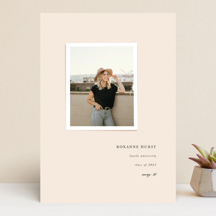 """""""small snap"""" - Preppy Graduation Announcements in Blush by Lori Wemple."""