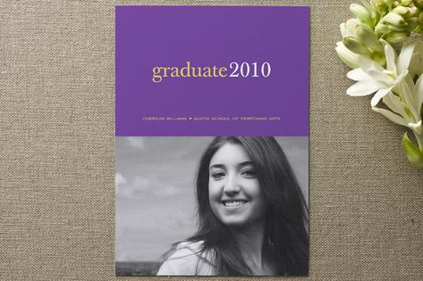 Pop of Color Graduation Announcements