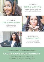 Three little steps Graduation Announcements By Dawn Jasper