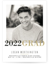 This is a yellow graduation announcement invitation by Carrie ONeal called Modern Snapshot with standard printing on smooth signature in standard.
