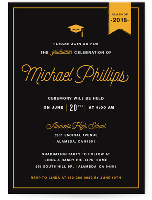 Party Graduation Graduation Announcements