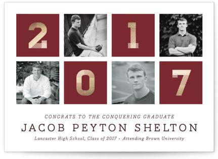 Conquering Graduate Graduation Announcements