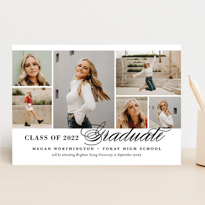 """""""Photo Block"""" - Graduation Announcements in Ivory by Jill Means."""