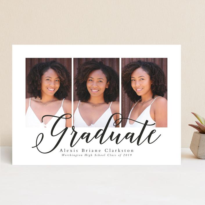 """""""Tri-ed and true"""" - Graduation Announcements in Penguin by Lea Delaveris."""