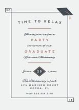 Time to relax Graduation Announcements