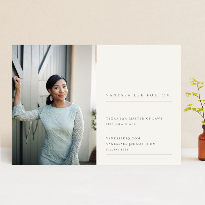 """""""Sage"""" - Graduation Announcements in Nude by Creative Parasol."""