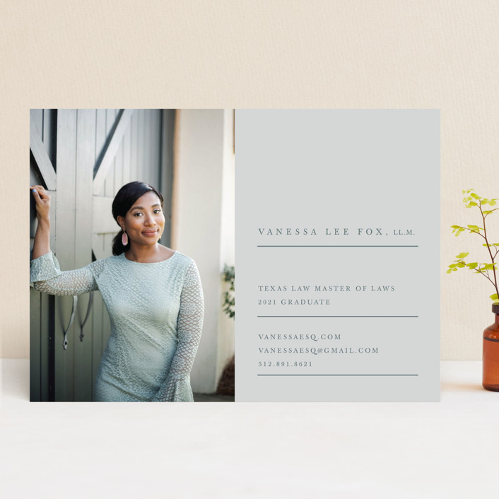 """Sage"" - Graduation Announcements in Nude by Creative Parasol."