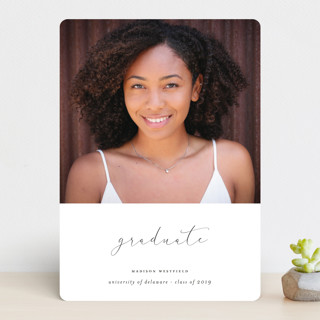 The Minimalist Graduation Announcements