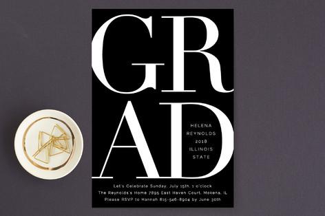 Bold Classic Grad Graduation Announcements