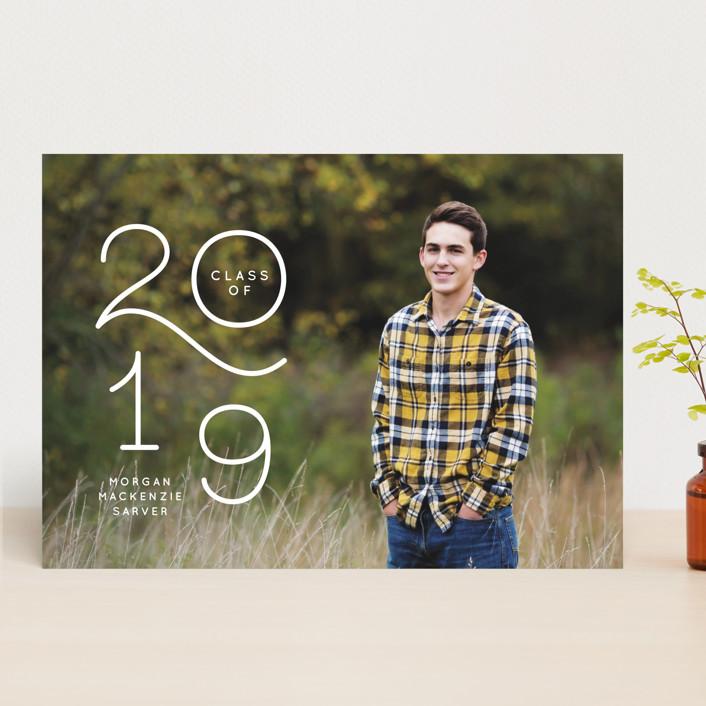 """My Year"" - Modern Graduation Announcements in Chalk by Lea Delaveris."