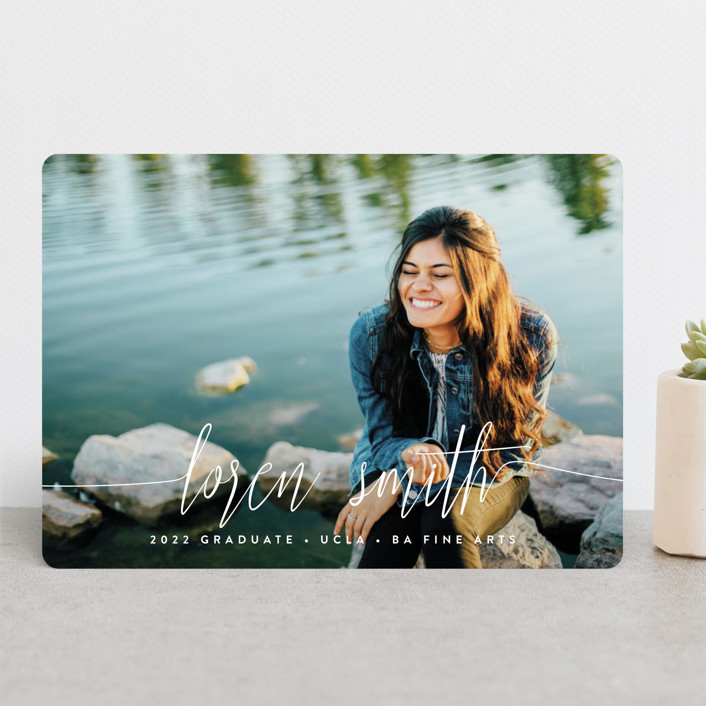 """""""My Name Is"""" - Modern Graduation Announcements in Cloud by Phrosne Ras."""